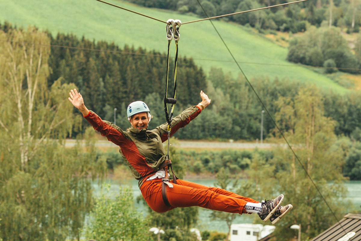 hunderfossen guest happy with her experience