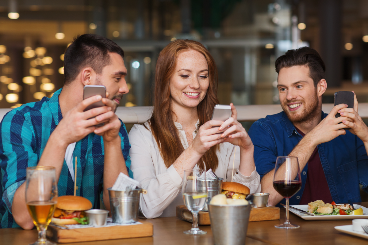 Happy guests mobile food ordering