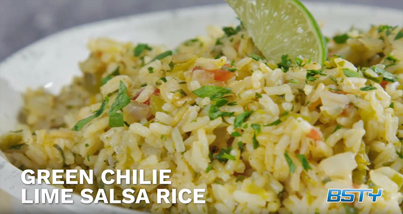 Green Chile Lime Salsa Rice
