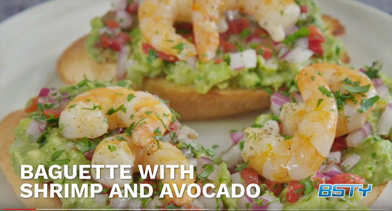 Baguette with Shrimp and Avocado