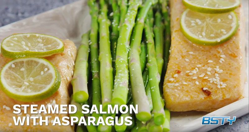 Steamed Salmon with Asparagus