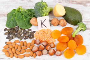 Nuts, fruits and green leafy vegetables