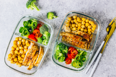 meal prepped chicken dishes