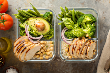 chicken with greens meal prep