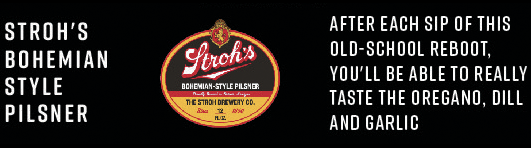 Stroh's Bohemian Style Pilsner