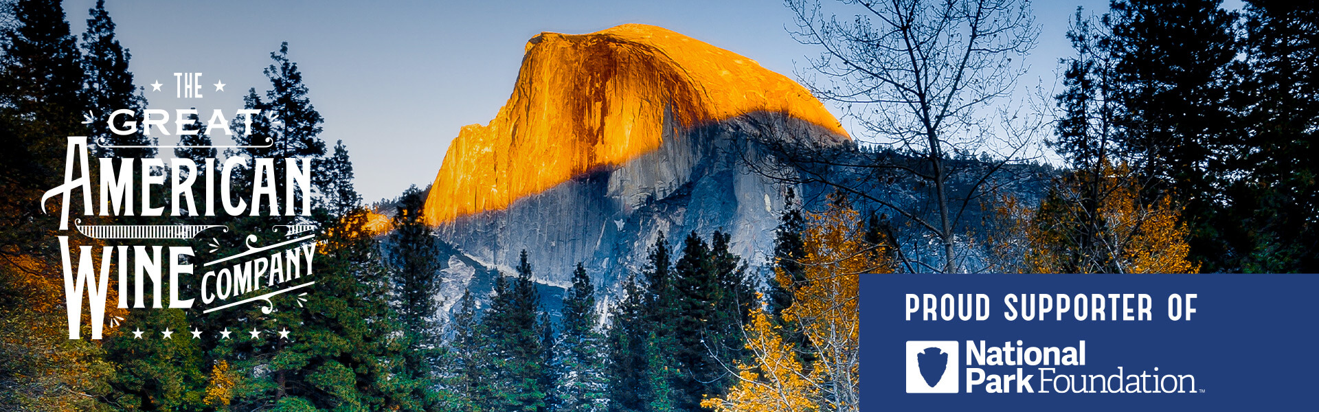 A picture of sunset across Half Dome in Yosemite National Park in California