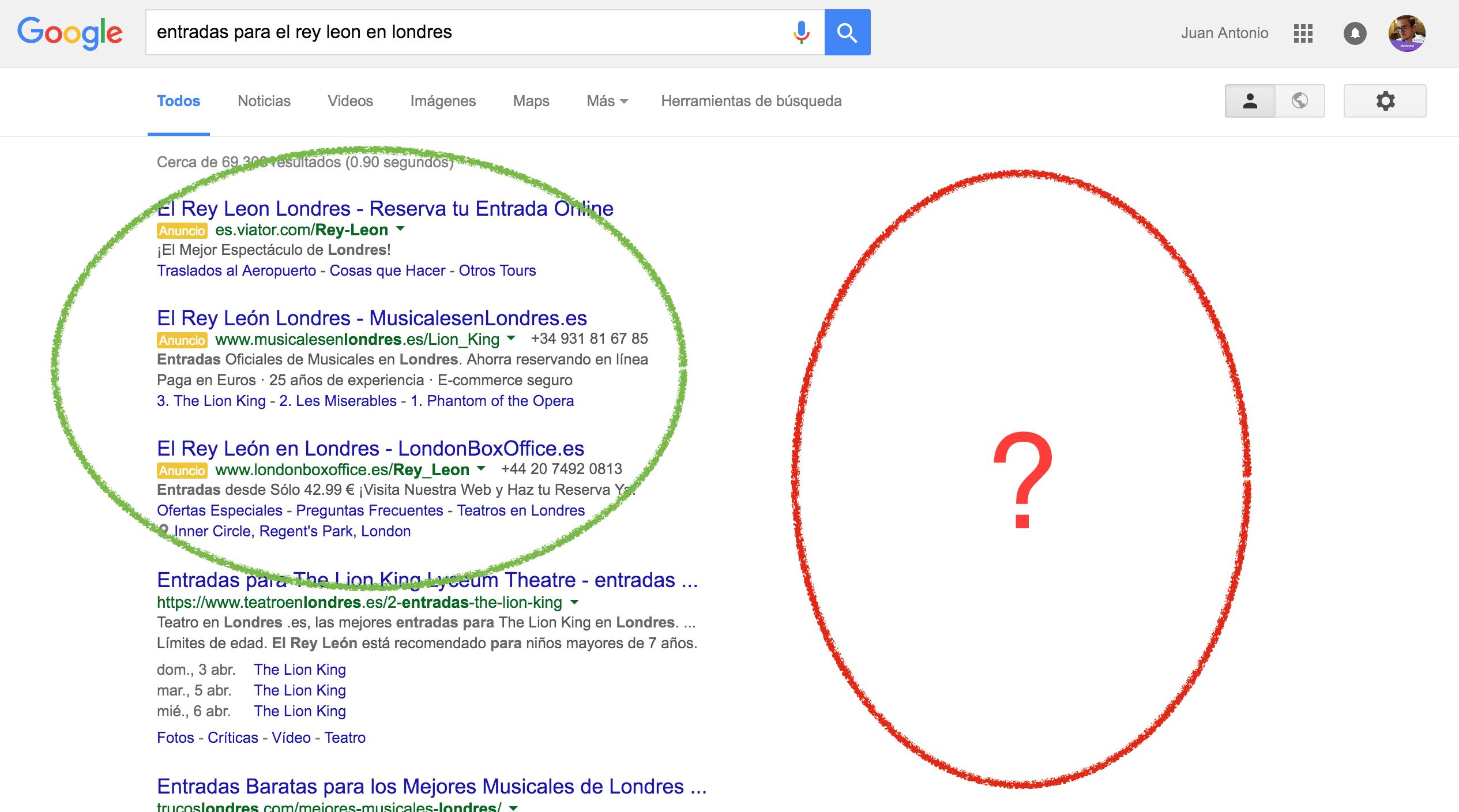 cambio más drástico de google