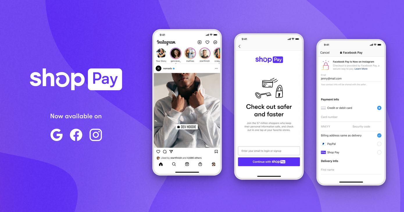 Shopify expande su pago con un clic, Shop Pay, a cualquier comerciante en  Facebook o Google   Interactivity / Agencia de Marketing Online
