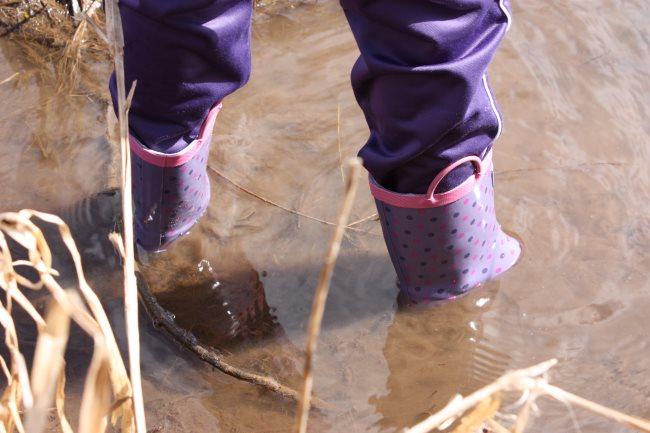 7. wet wellie wander take a challenge