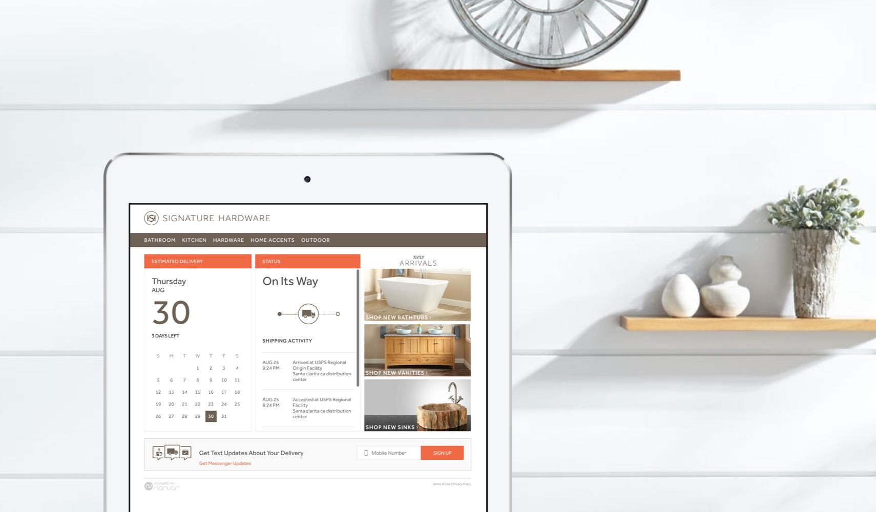 Narvar Customer Stories - ecommerce returns software - Signature Hardware