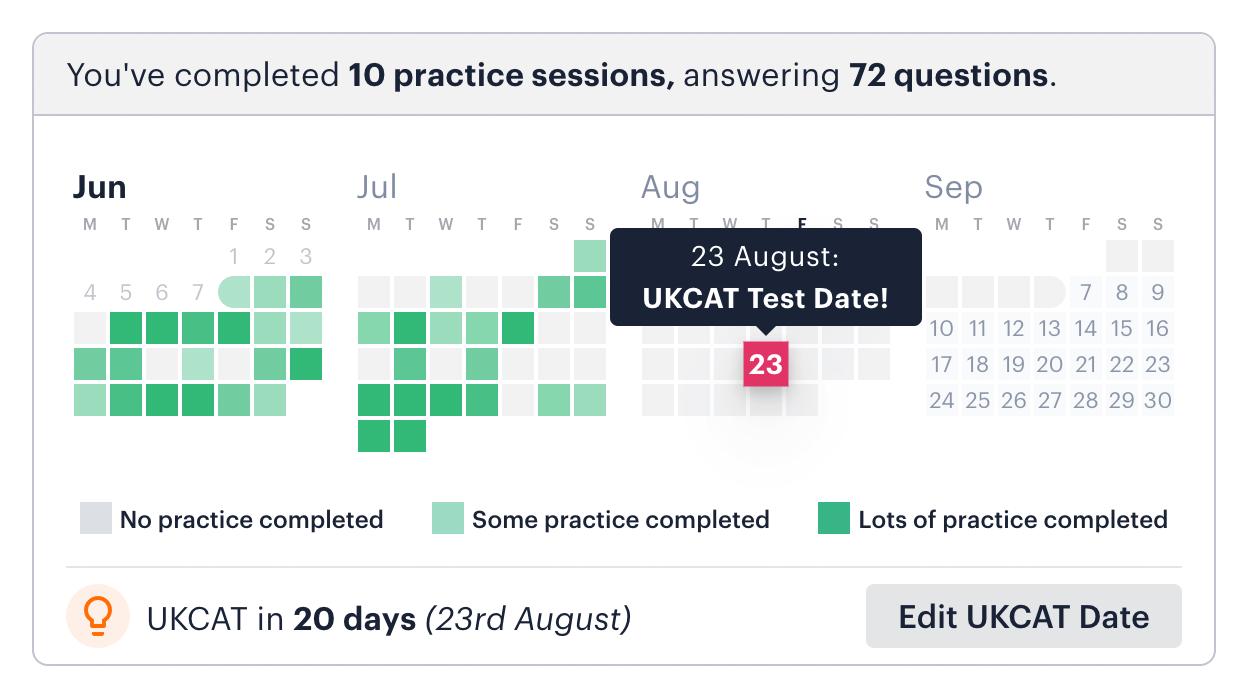 Medify UCAT Activity Calendar