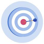 A dark hitting the bullseye