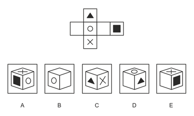 A BMAT spatial reasoning question example