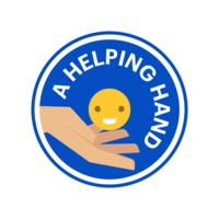 Medify's helping hand in a blue circle with a yellow smiling emoji