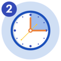 A Medify style clock showing extra exam time