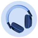 Medify's blue headphones to help block out stress