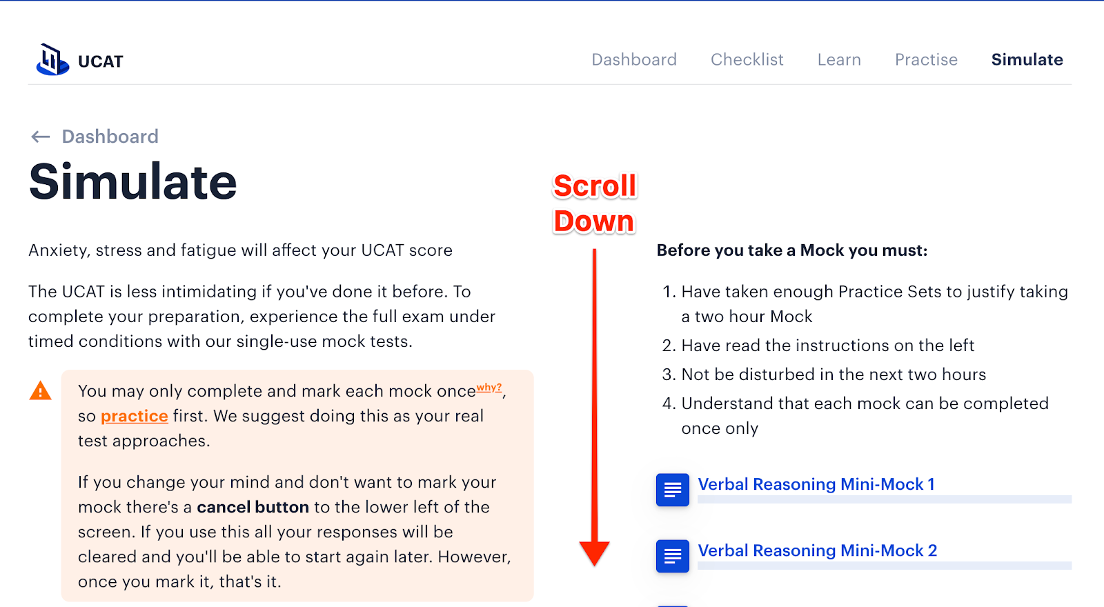 Where to find Medify's online UCAT diagnostic test