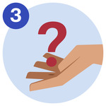#3 A question mark floating on top of a hand.