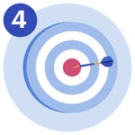 #1 A target with a dart in the bullseye