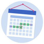 A calendar showing a week to go until the BMAT exam