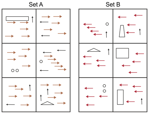 Set A and B from the UCAT test's Abstract Reasoning section