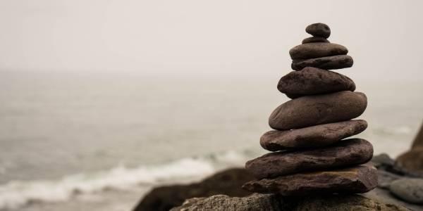 A tower made of rocks, symbolising calmness
