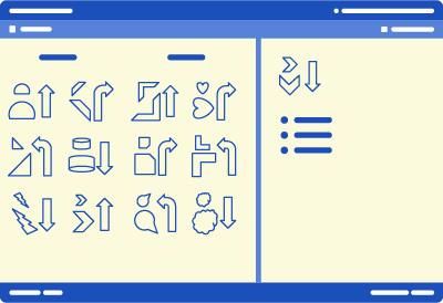 An illustration of the UCAT AR test screen