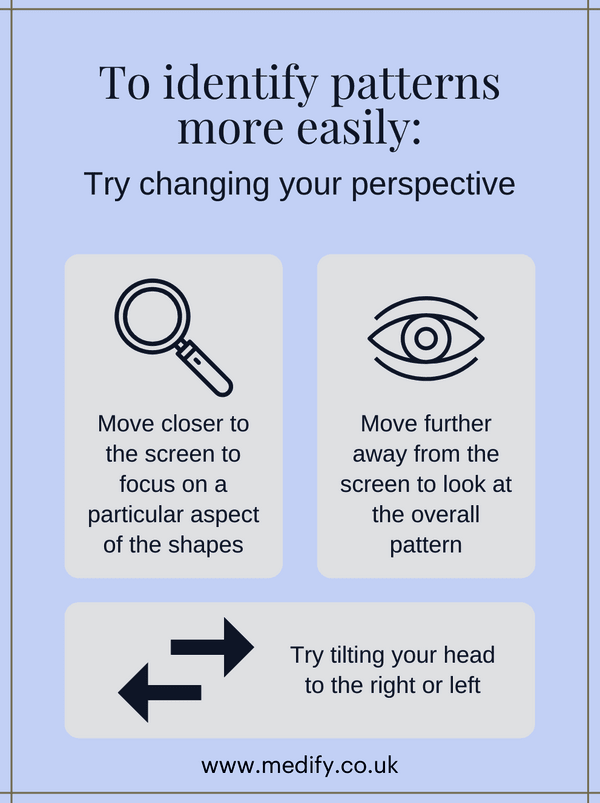 Change perspective to identify patterns more easily