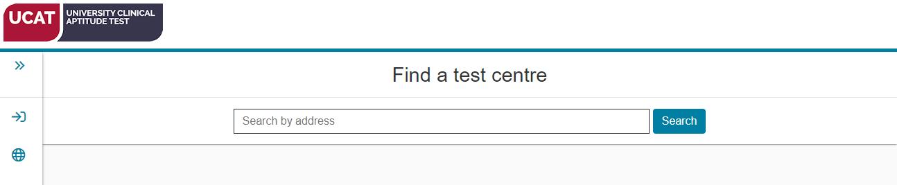 """""""Find a UCAT test centre"""" screenshot"""