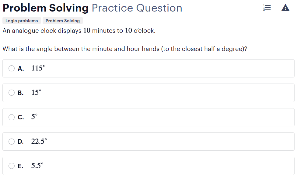 BMAT problem-solving questions type - finding procedures sample