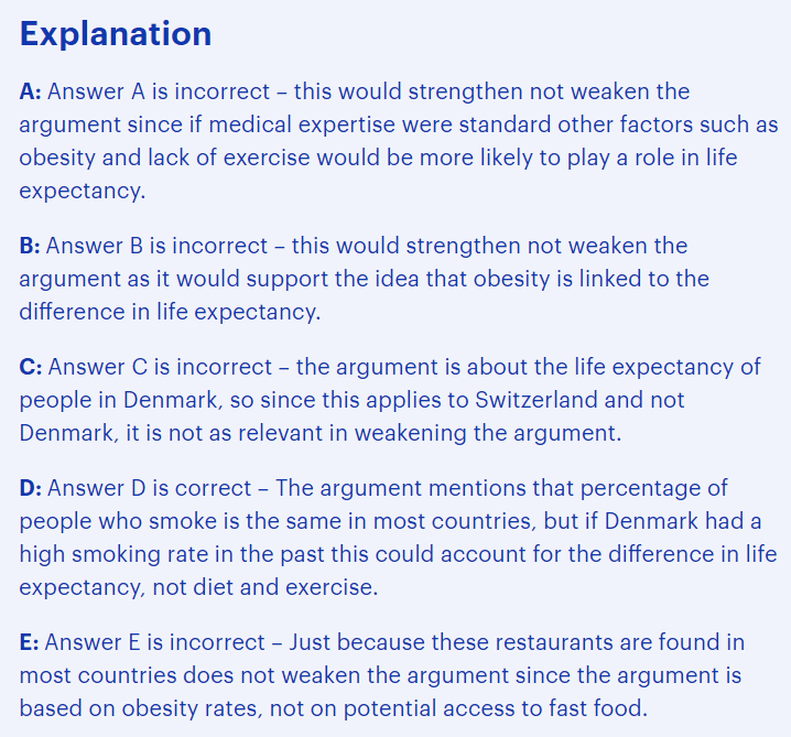 BMAT critical thinking questions type - assessing the impact of additional evidence explained