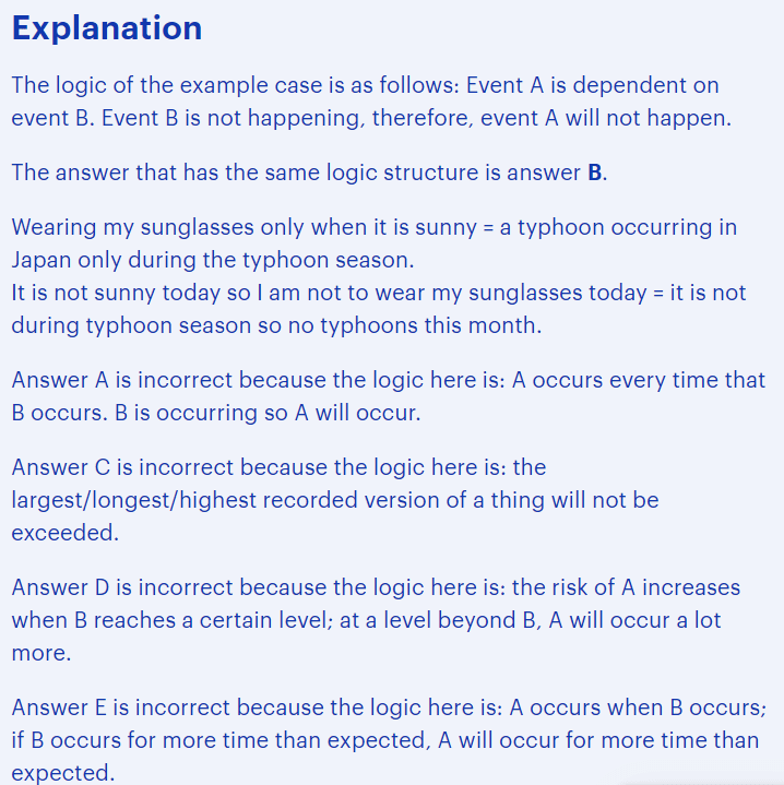 BMAT critical thinking questions type - matching arguments evidence explained