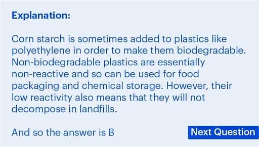 BMAT Section 2, Chemistry practice question explanation.