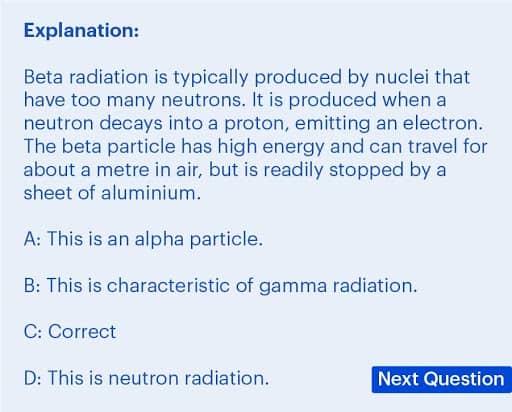 BMAT Section 2, Physics practice question explanation.