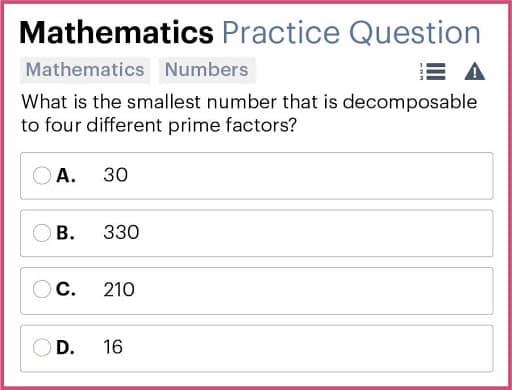 BMAT Section 2, Mathematics practice question.