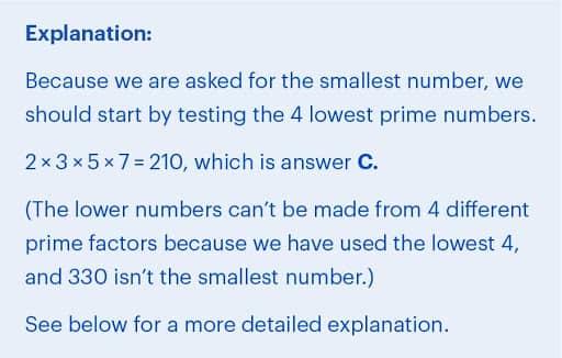 BMAT Section 2 Mathematics practice question explanation