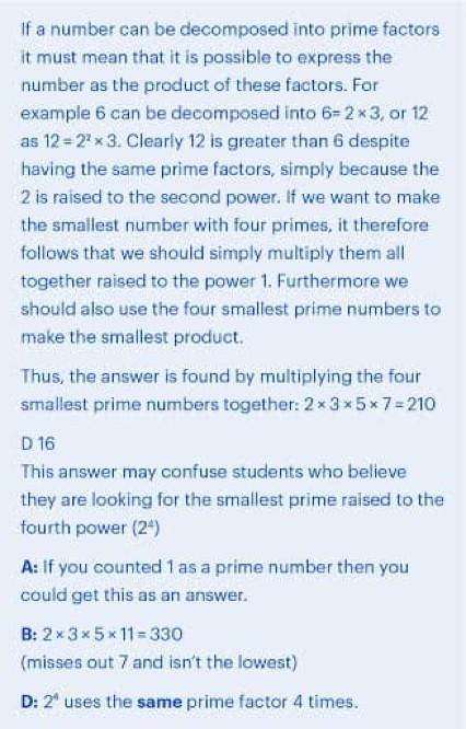 BMAT Section 2 Mathematics practice question explanation, part 2