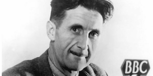 Photograph of George Orwell at BBC