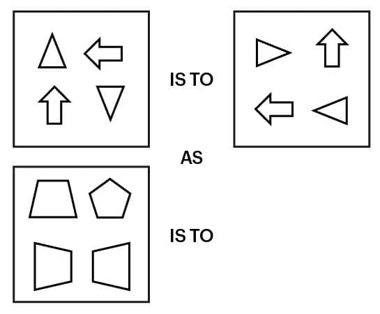 UCAT Abstract Reasoning (AR). Incomplete question example.