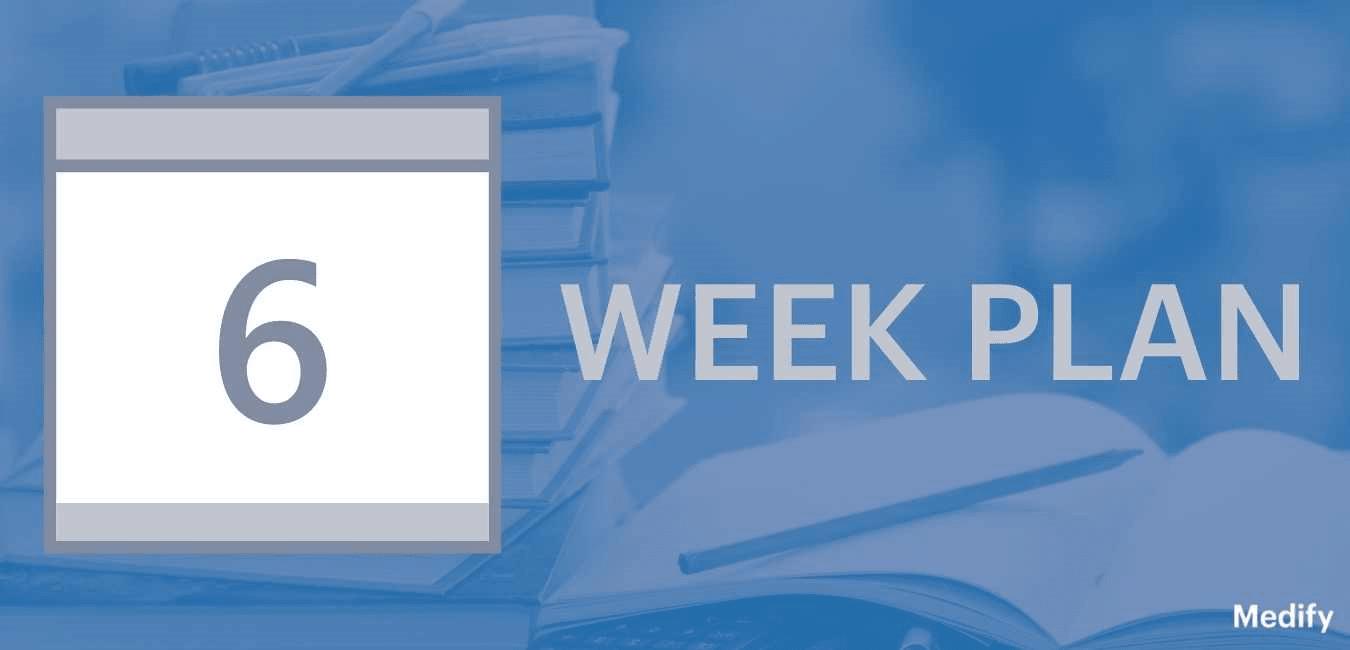 6 week BMAT plan illustration.