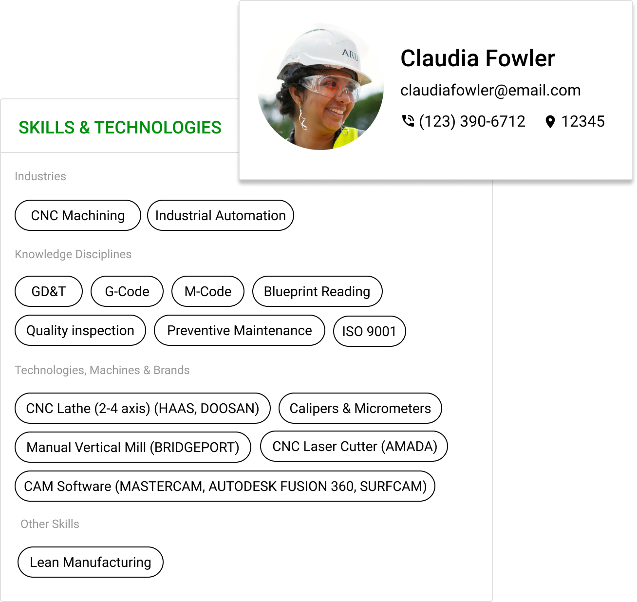 FactoryFix's easy to view professional profiles help your skills stand out.