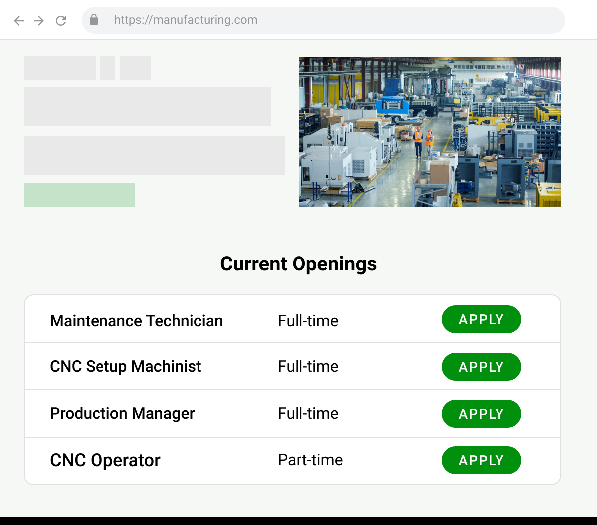 Finding jobs with FactoryFix is easy.