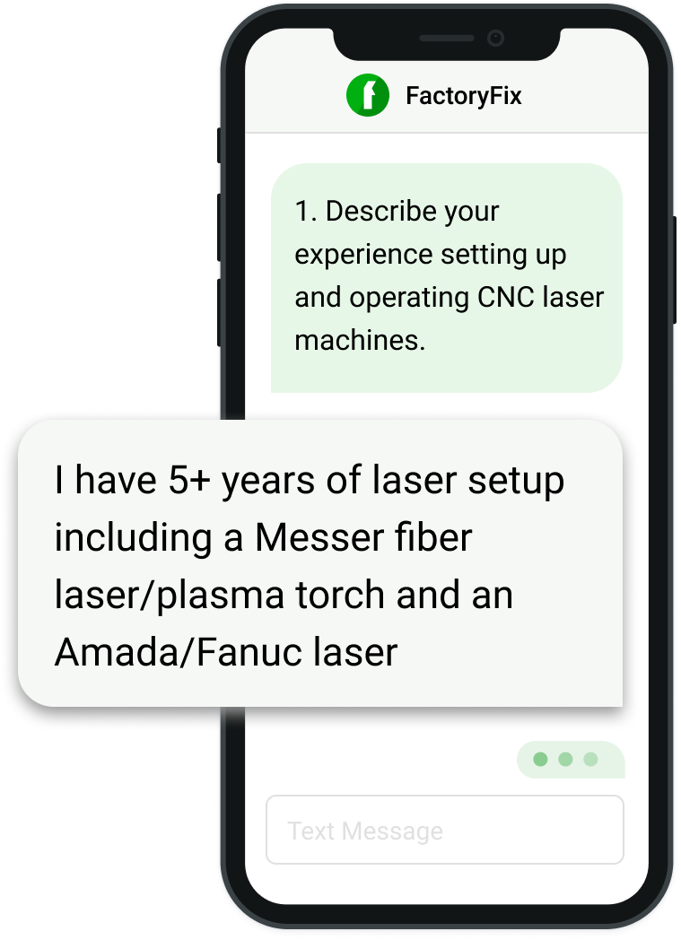 FactoryFix screener questions ensure you get the best fit.