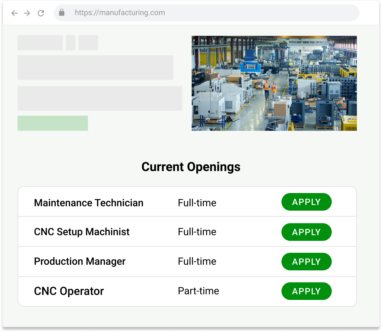 Applying for a position through FactoryFix is simple.