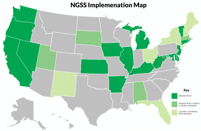 NGSS Implementation  map