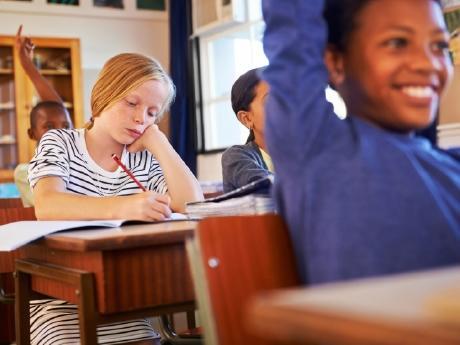 Mixed feeling in a classroom