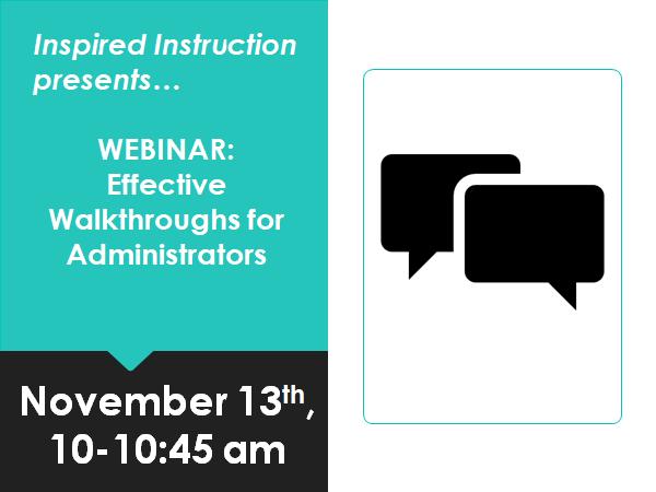 webinar image on effective walkthroughs for administrators