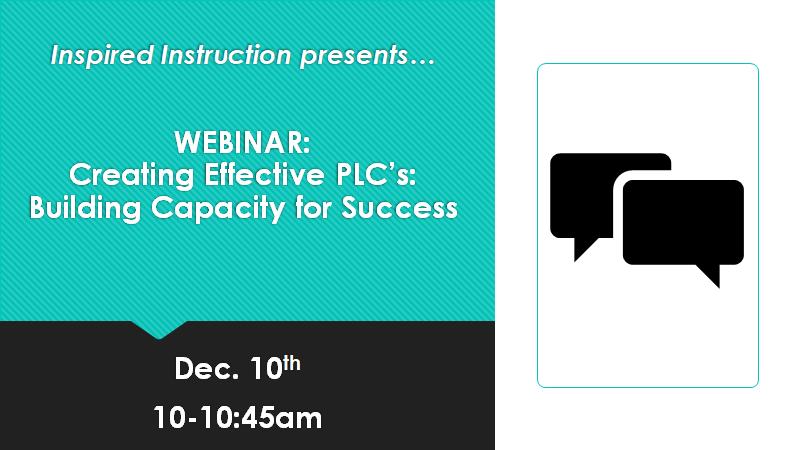 webinar on creating effective PLC