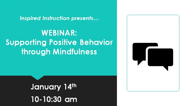 Supporting positive behavior webinar