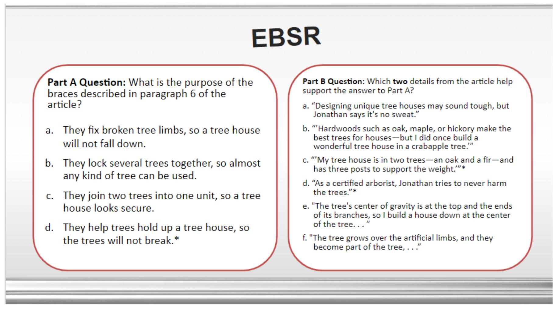 EBSR Question